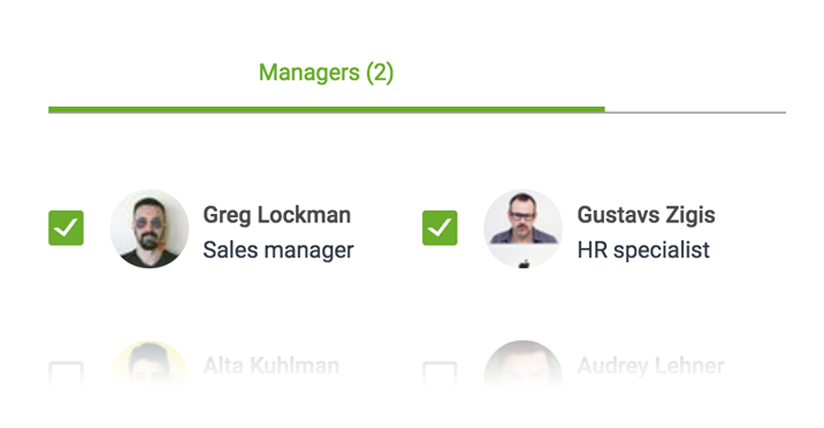 List of managers who approve timesheets in Sage HR